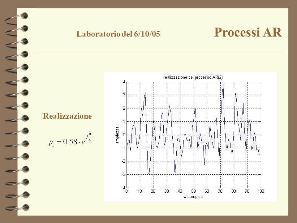 Realizzazione Laboratorio del 6/10/05 Processi AR