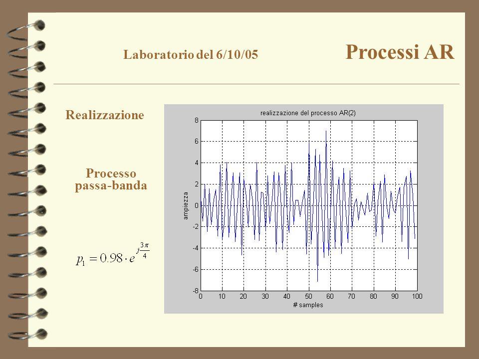 Realizzazione Processo passa-banda Laboratorio del 6/10/05 Processi AR