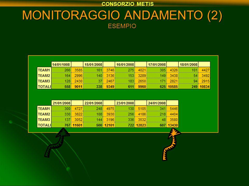 MONITORAGGIO ANDAMENTO (2) ESEMPIO CONSORZIO METIS