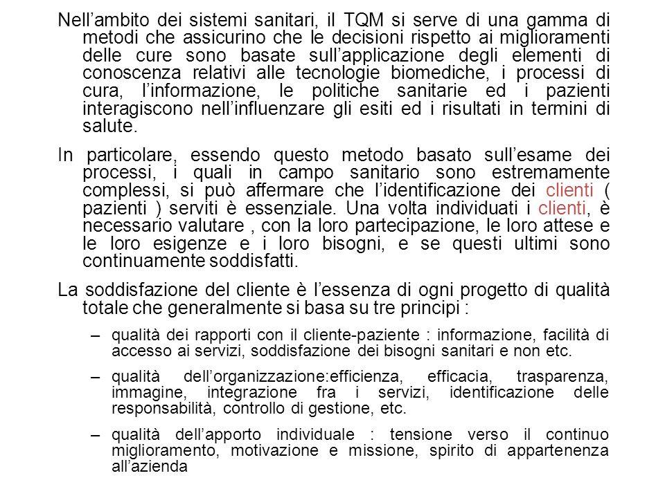 Gli ospedali ed i servizi territoriali, nella logica del mercato interno vendono i loro servizi, acquisendo lo status di Aziende, dotate di autonomia gestionale e responsabilità finanziaria ( trust ).