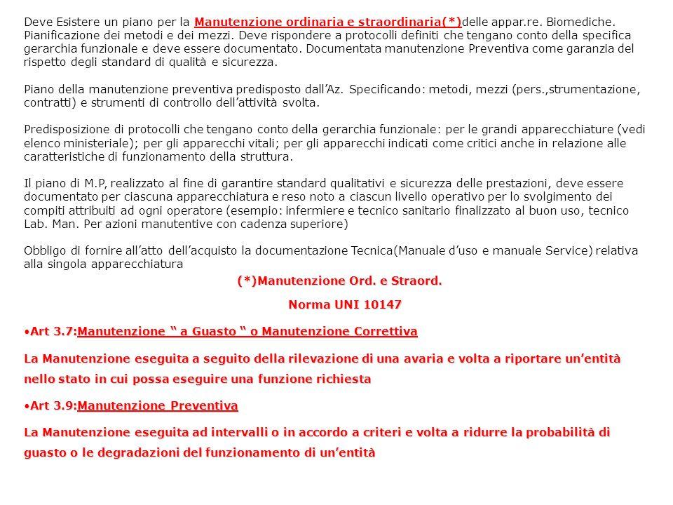 Piano della manutenzione preventiva predisposto dallAz. Specificando: metodi, mezzi (pers.,strumentazione, contratti) e strumenti di controllo dellatt