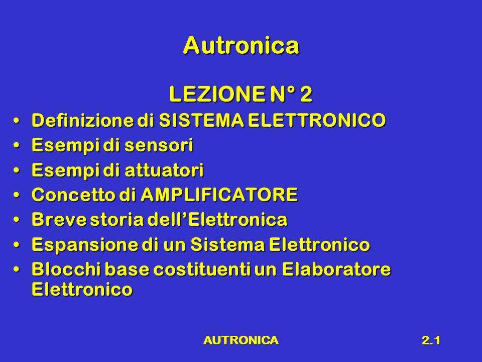 AUTRONICA2.2 Richiami Scopo del corsoScopo del corso Richiami di elettrologiaRichiami di elettrologia Legge di OhmLegge di Ohm Prima legge di KirchhoffPrima legge di Kirchhoff Seconda legge di KirchhoffSeconda legge di Kirchhoff Potenza in un circuito elettricoPotenza in un circuito elettrico Legge di JouleLegge di Joule