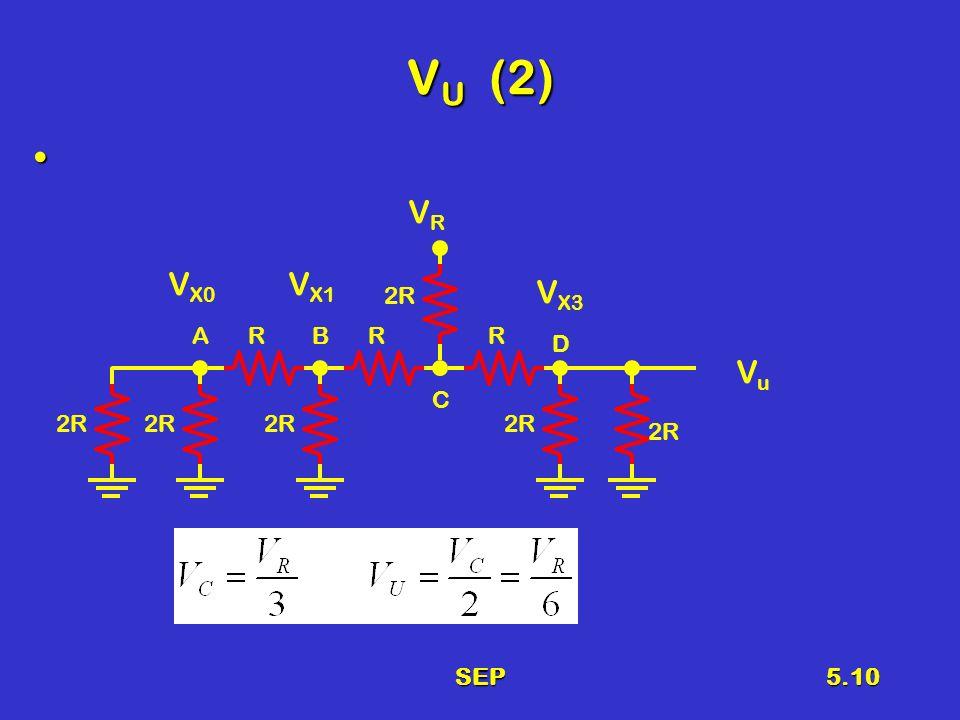 SEP5.10 V U (2) 2R RRR VRVR V X3 V X1 V X0 AB C D VuVu
