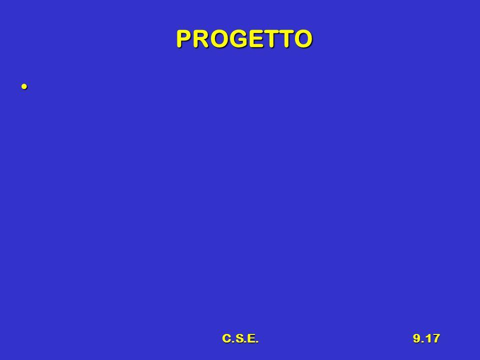 C.S.E.9.17 PROGETTO