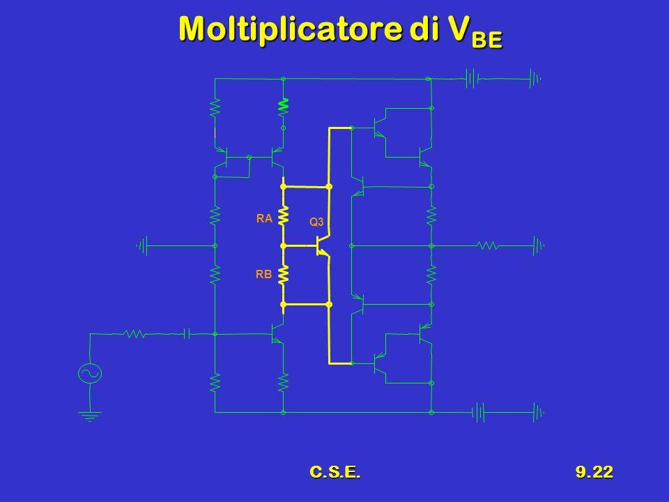 C.S.E.9.22 Moltiplicatore di V BE Q3 RA RB
