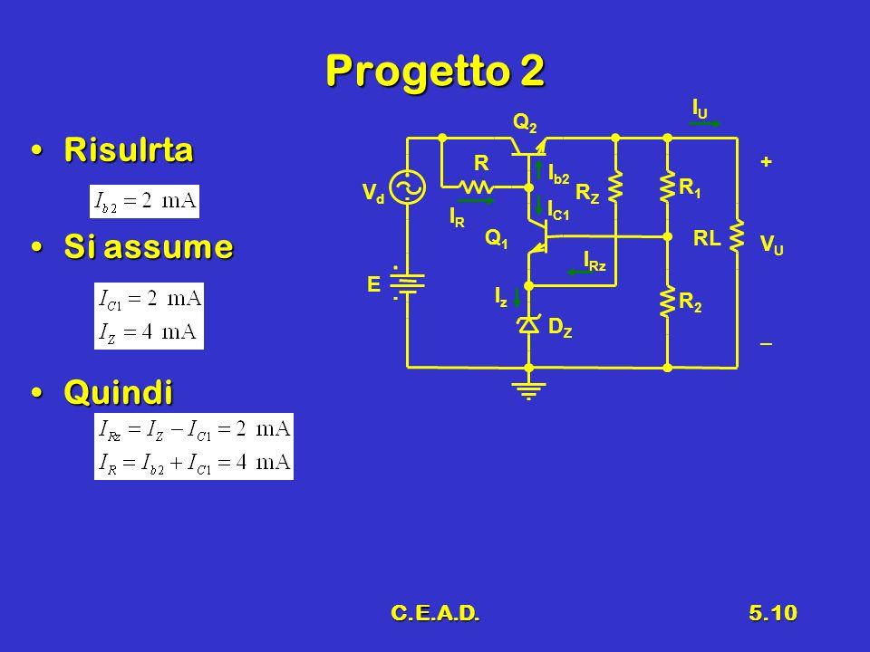 C.E.A.D.5.10 Progetto 2 RisulrtaRisulrta Si assumeSi assume QuindiQuindi IUIU