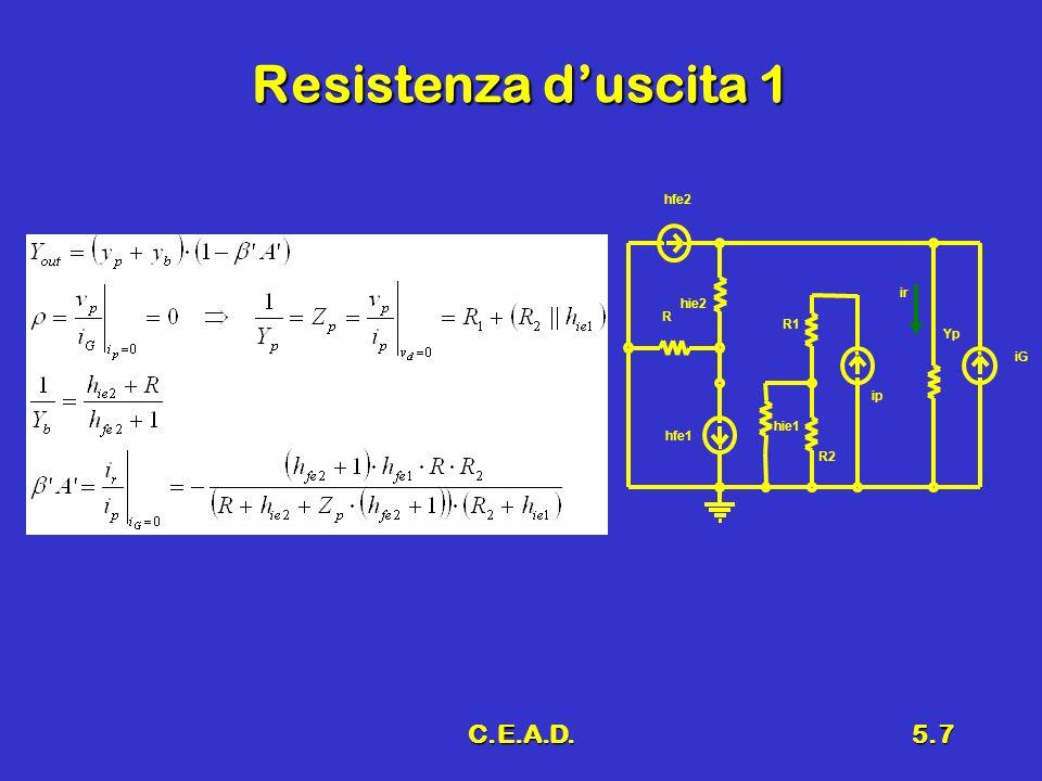 C.E.A.D.5.7 Resistenza duscita 1