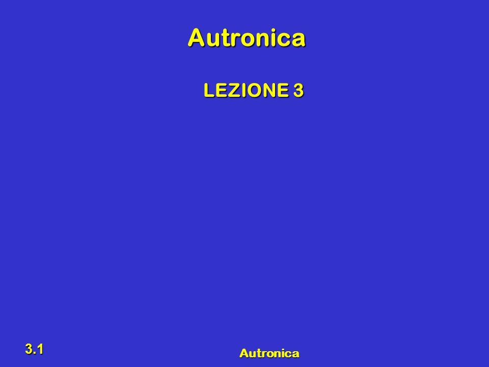 Autronica 3.1 Autronica LEZIONE 3