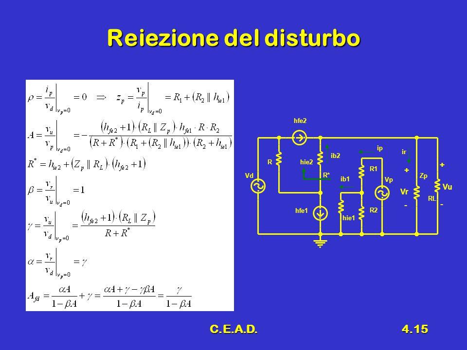 C.E.A.D.4.15 Reiezione del disturbo