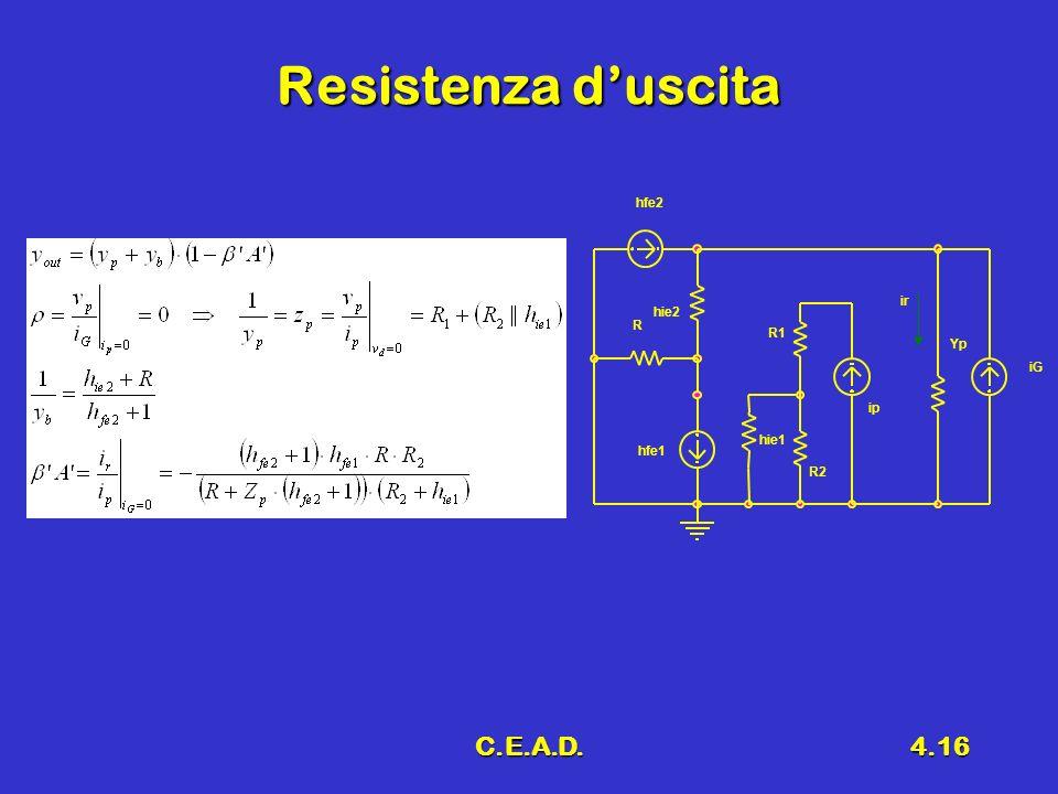 C.E.A.D.4.16 Resistenza duscita