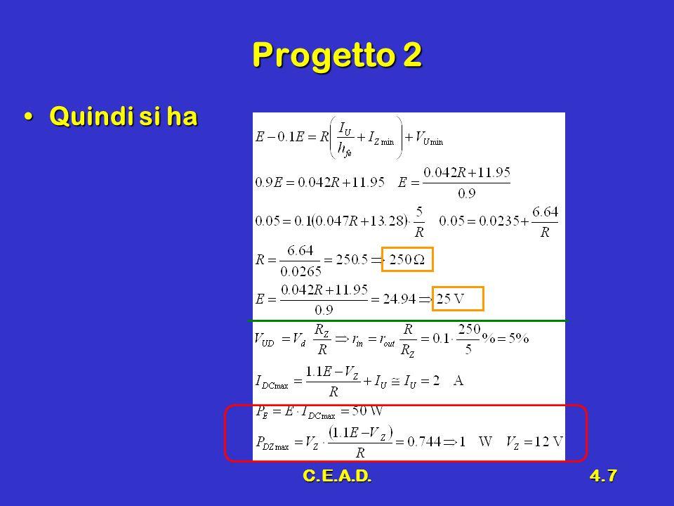 C.E.A.D.4.7 Progetto 2 Quindi si haQuindi si ha