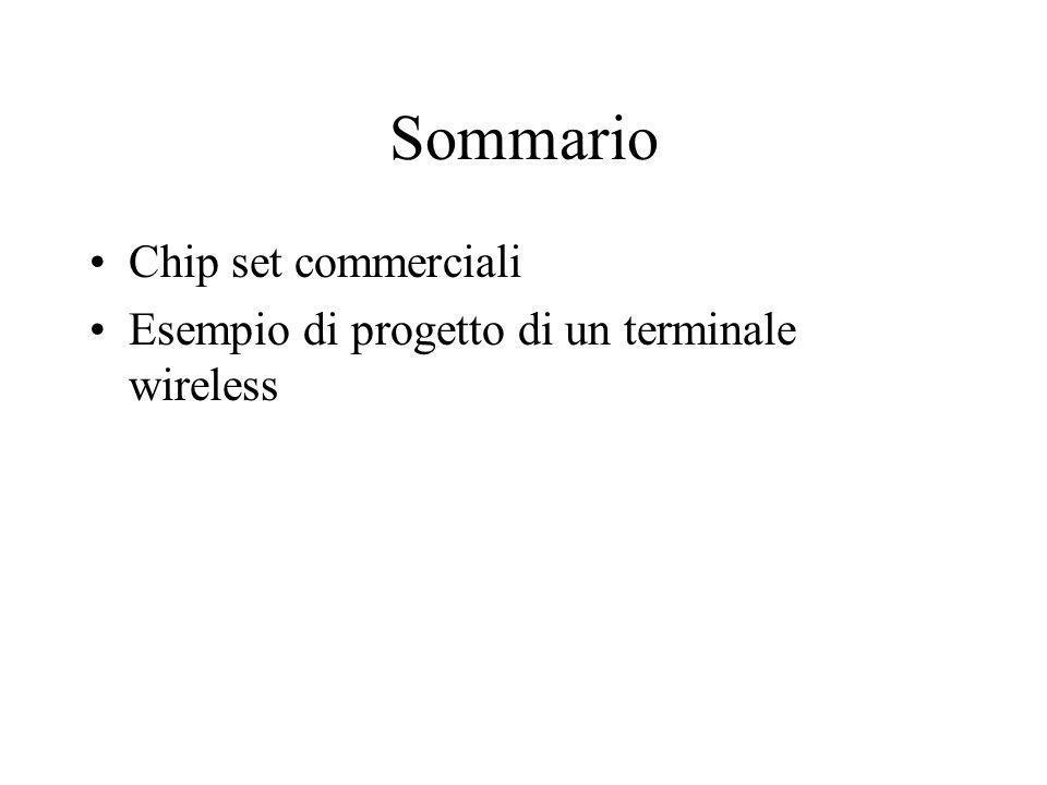 Architetture e tecnologie per terminali wireless ( Tecnologie e Chipset Commerciali )