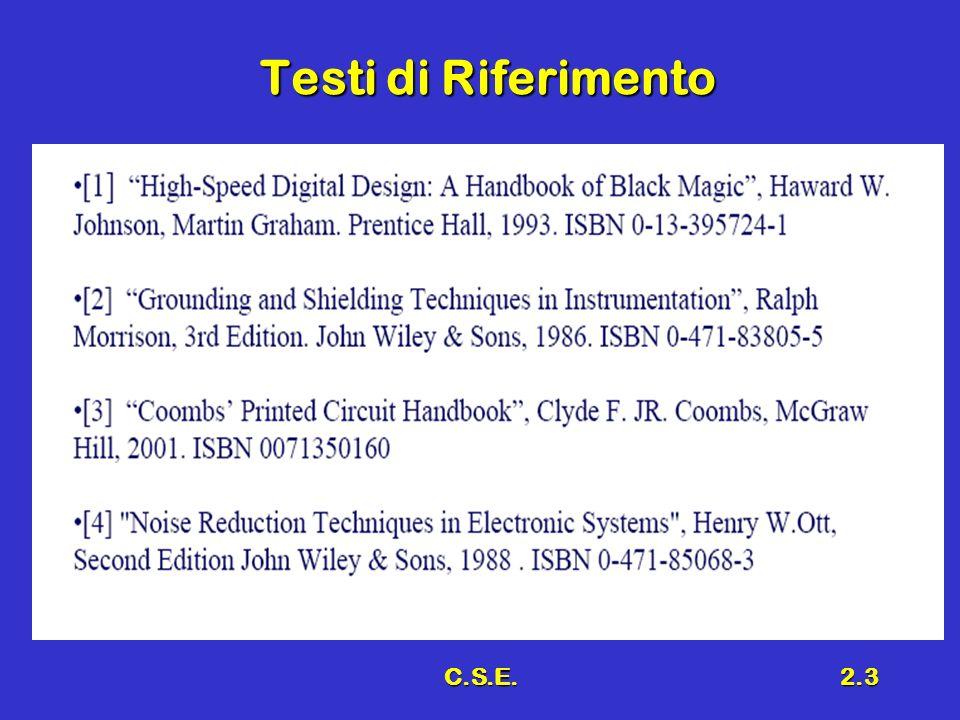 C.S.E.2.3 Testi di Riferimento