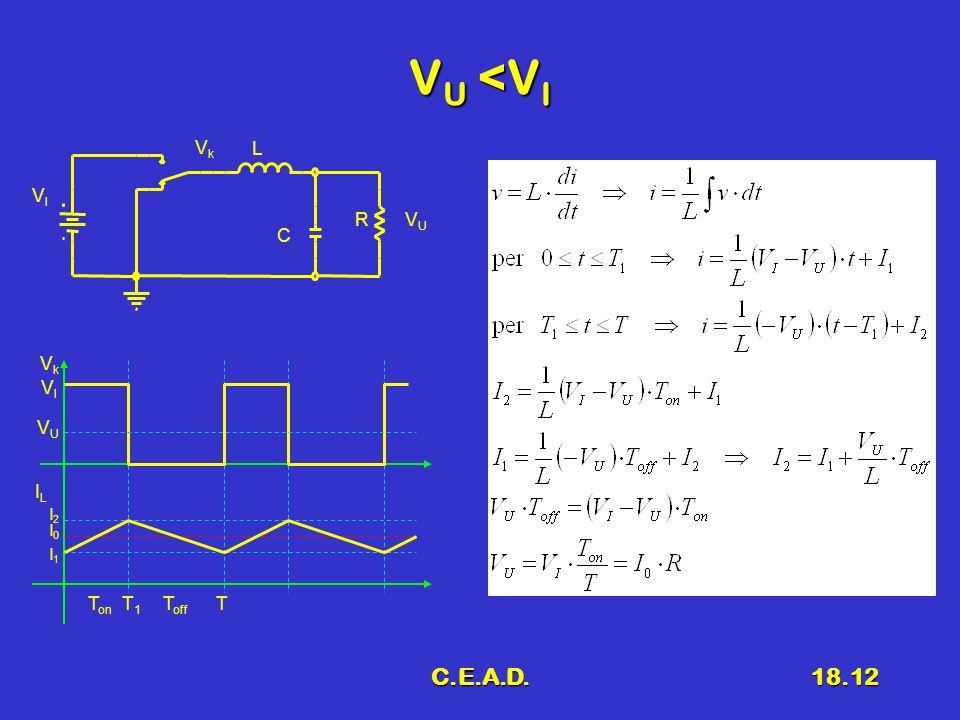 C.E.A.D.18.12 V U <V I VUVU VkVk VIVI L R C VkVk ILIL VIVI I2I2 I0I0 I1I1 T1T1 TT on T off VUVU