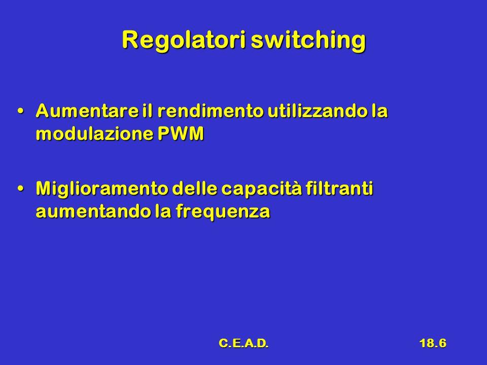 C.E.A.D.18.6 Regolatori switching Aumentare il rendimento utilizzando la modulazione PWMAumentare il rendimento utilizzando la modulazione PWM Miglior