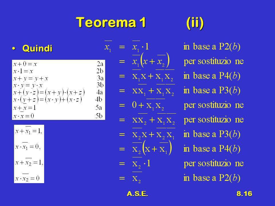 A.S.E.8.16 Teorema 1(ii) QuindiQuindi