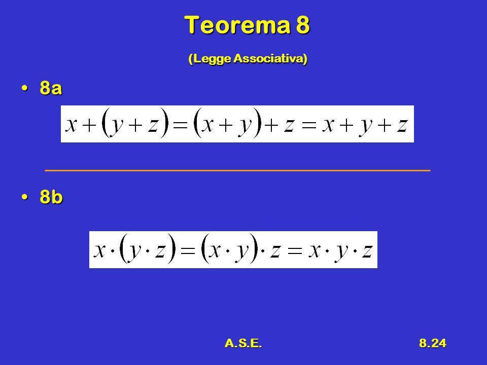 A.S.E.8.24 Teorema 8 (Legge Associativa) 8a8a 8b8b
