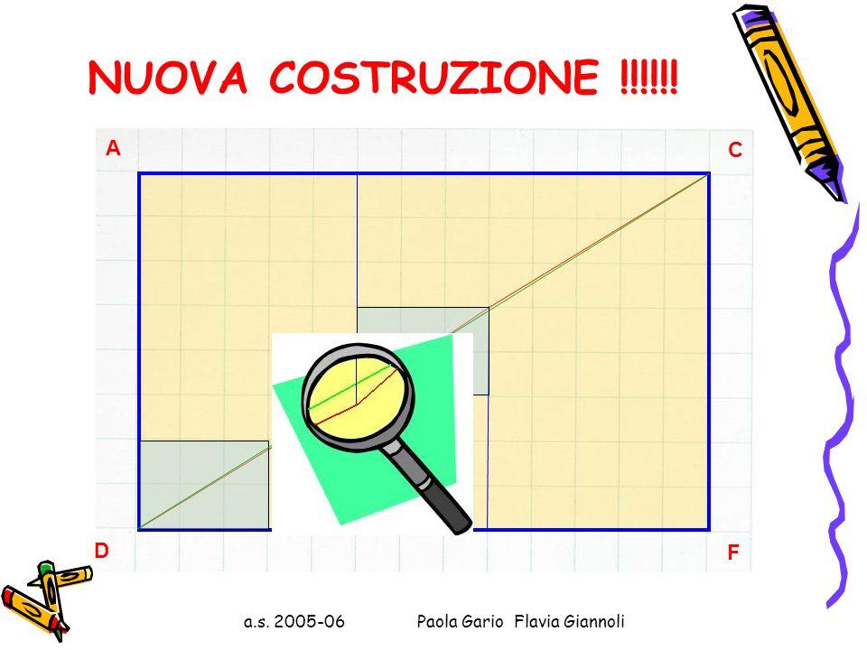 a.s. 2005-06 Paola Gario Flavia Giannoli Il punto B divide AC nei segmenti AB e BC di lunghezza 5 e 8 cm, rispettivamente. Il punto E divide DF nei se