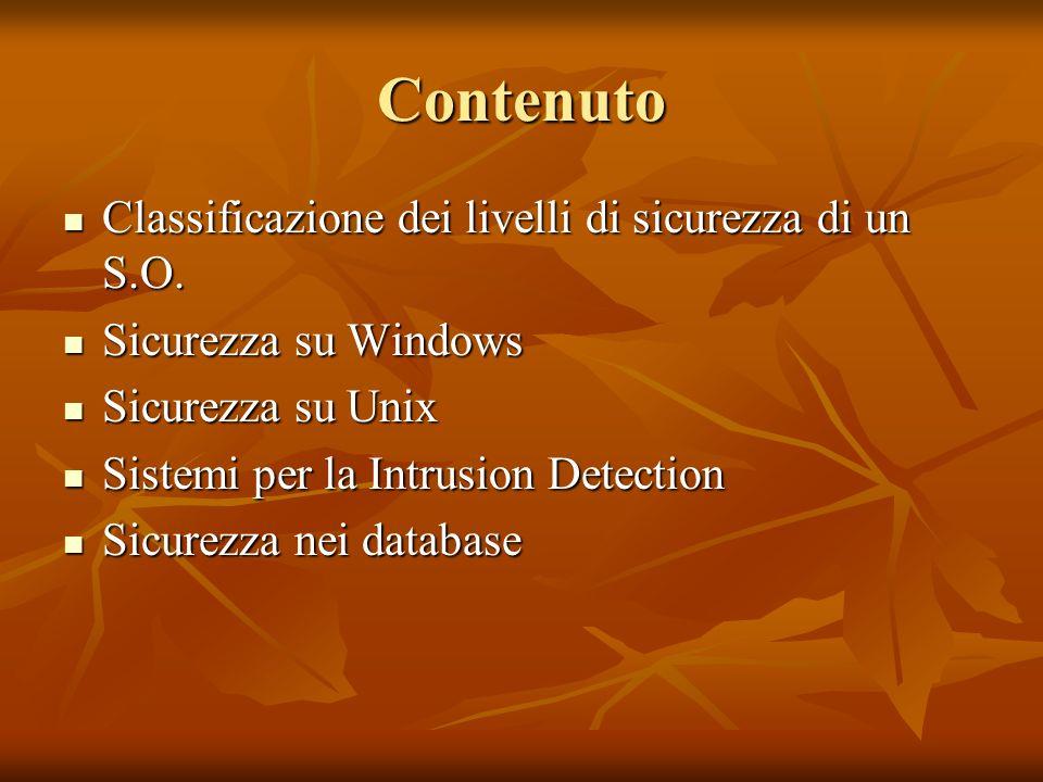 Classificazione della sicurezza dei sistemi di calcolo Orange Book.