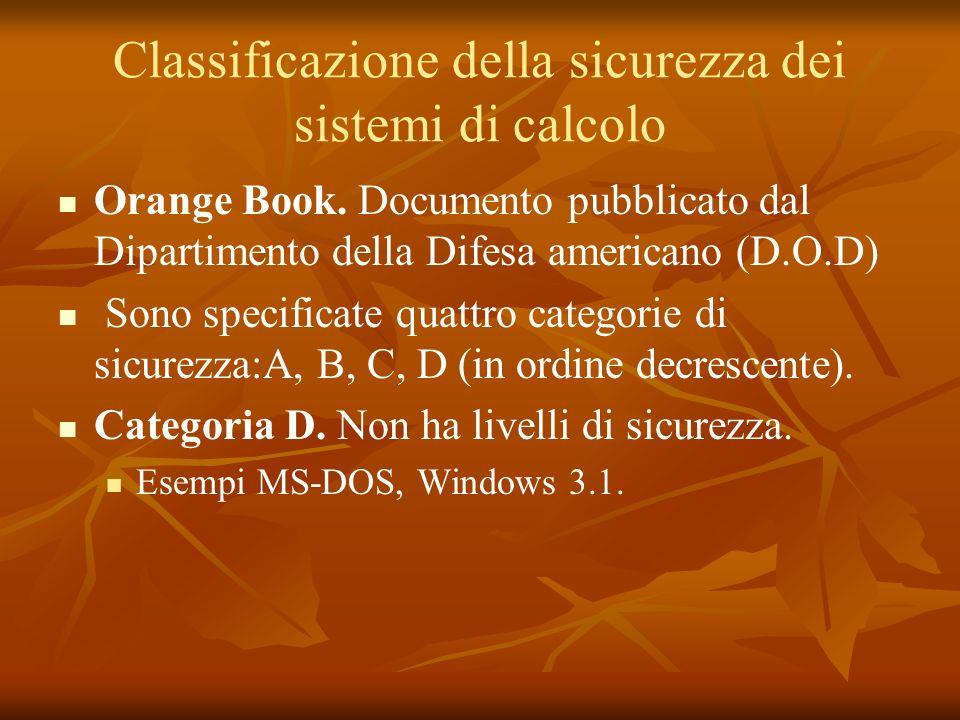Classificazione Categoria C.Suddivisa in C1 e C2: C1.