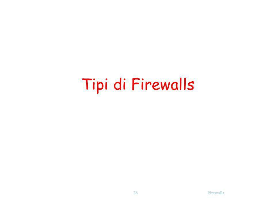 Firewalls26 Tipi di Firewalls