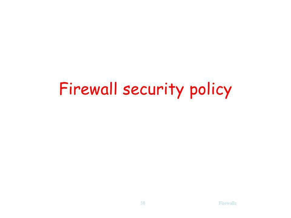 Firewalls58 Firewall security policy