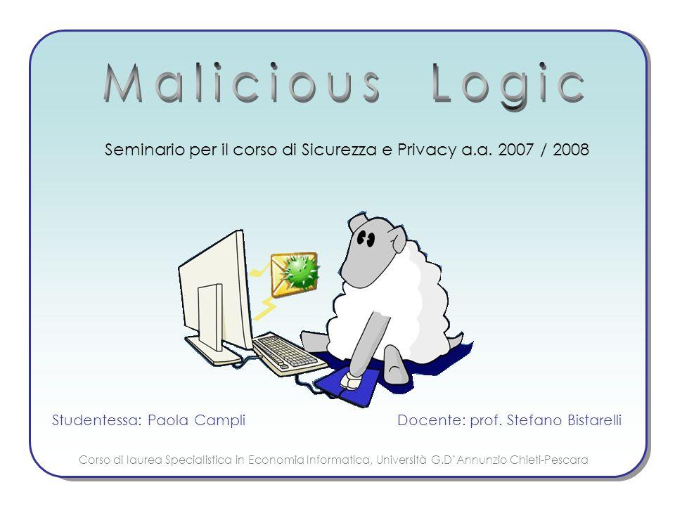 Seminario per il corso di Sicurezza e Privacy a.a.