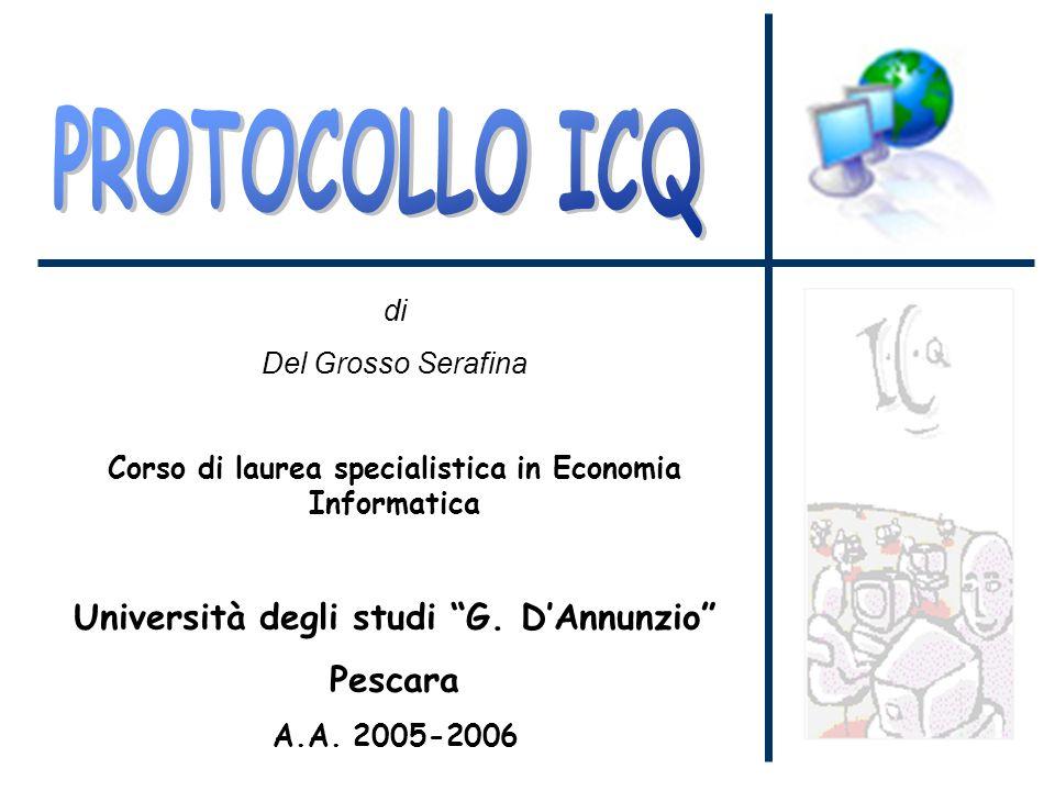 di Del Grosso Serafina Corso di laurea specialistica in Economia Informatica Università degli studi G.
