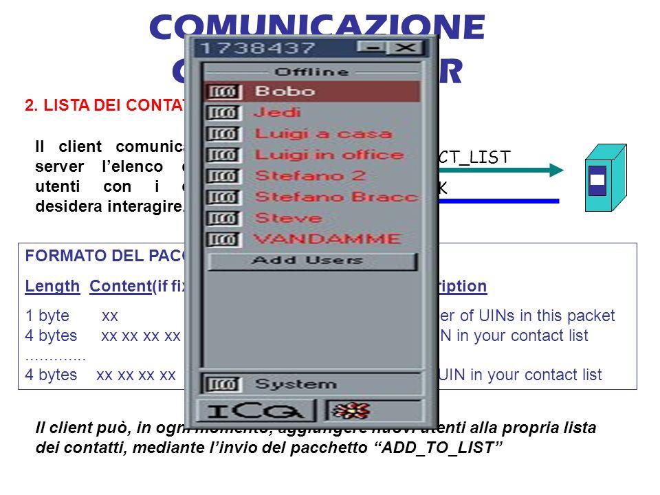COMUNICAZIONE CLIENT-SERVER 2.