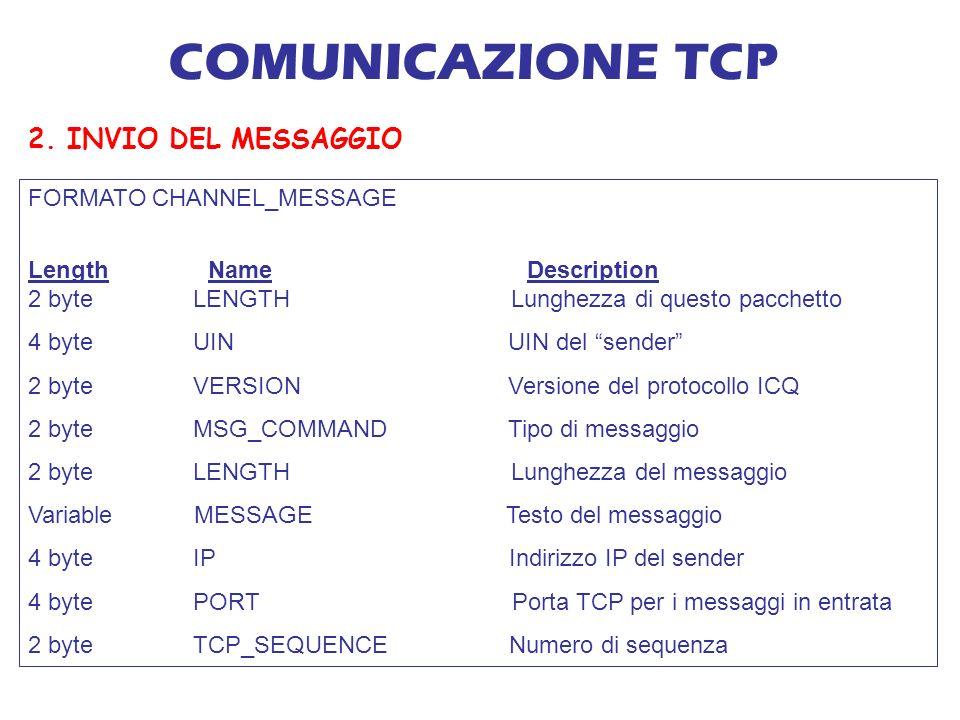 COMUNICAZIONE TCP 2.