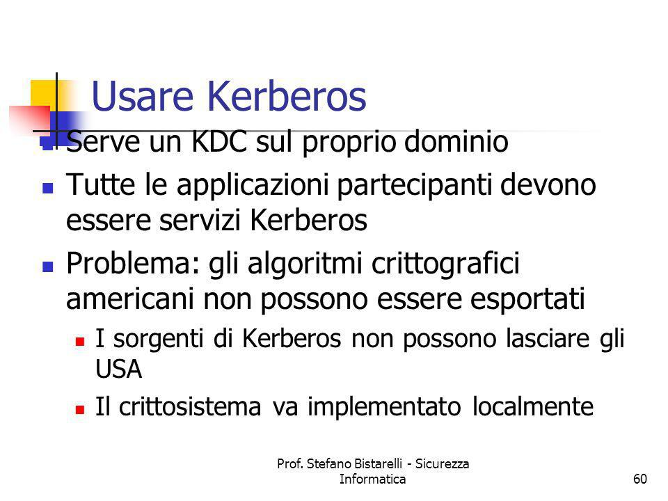 Prof. Stefano Bistarelli - Sicurezza Informatica61 Discussion: