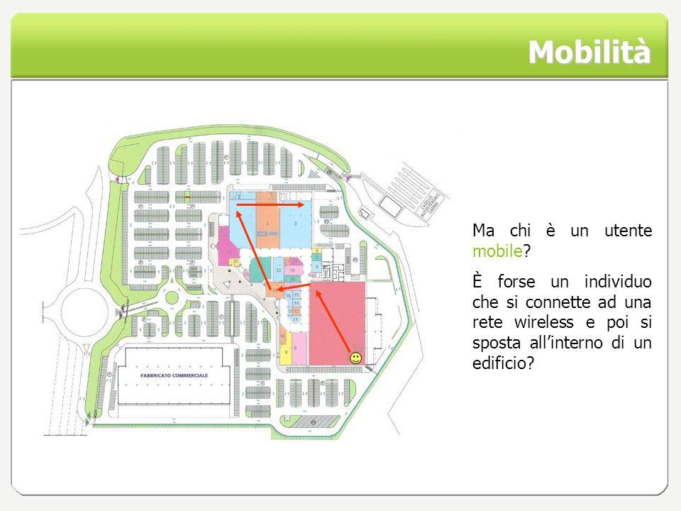 Mobilità Ma chi è un utente mobile? È forse un individuo che si connette ad una rete wireless e poi si sposta allinterno di un edificio?