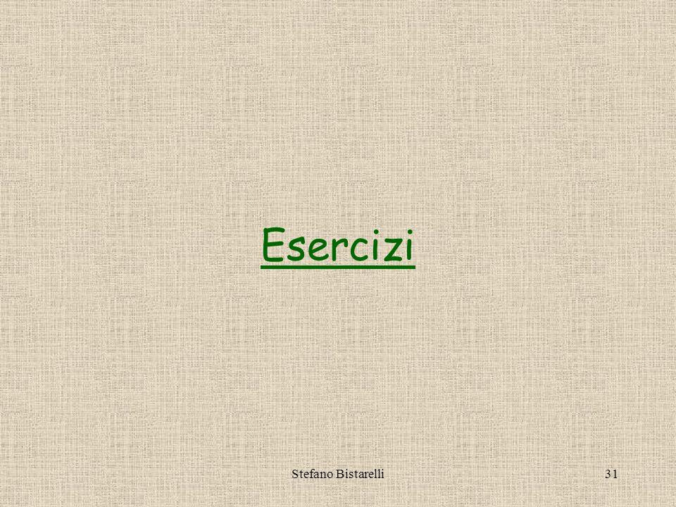 Stefano Bistarelli30 Il metodo prompt Richiede input allutente, es.