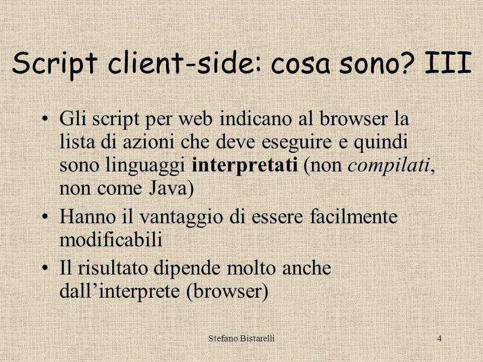 Stefano Bistarelli4 Script client-side: cosa sono.