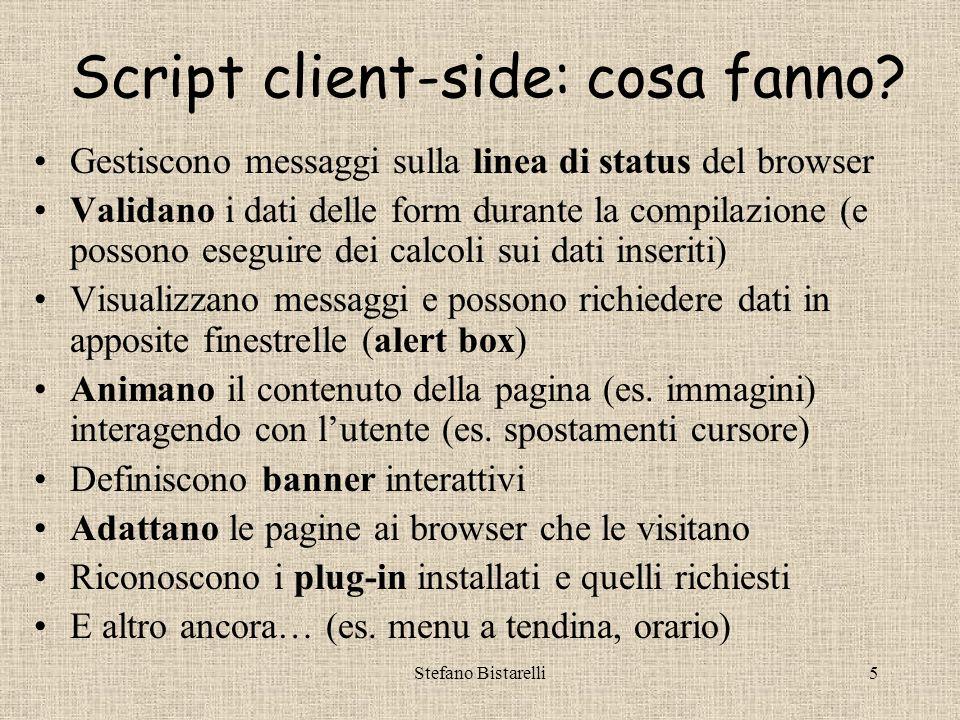 Stefano Bistarelli5 Script client-side: cosa fanno.
