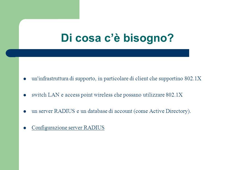 RADIUS RADIUS (Remote Access Dial-In User Service) protocollo AAA (authentication, authorization, accounting) utilizzato in applicazioni di accesso alle reti o di mobilità IP.