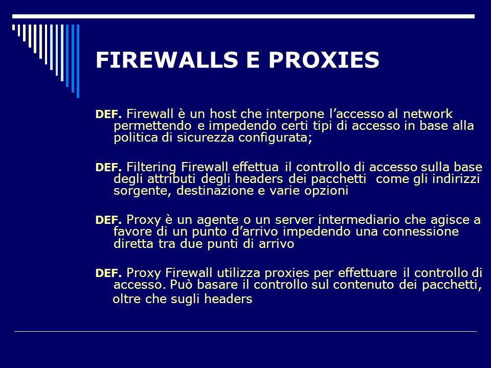 FIREWALLS E PROXIES DEF.