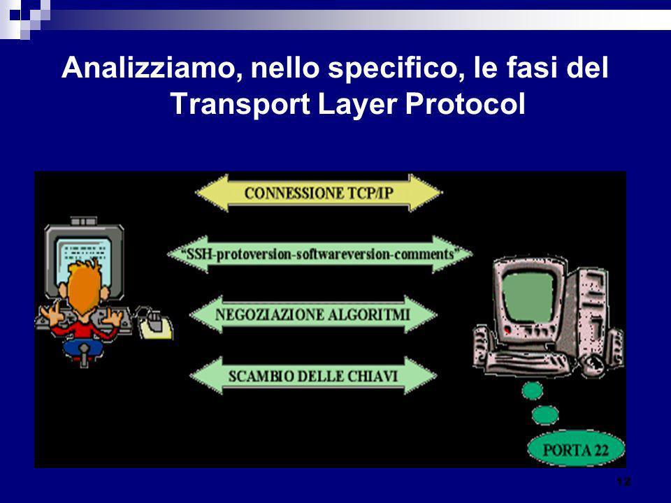 Analizziamo, nello specifico, le fasi del Transport Layer Protocol 12