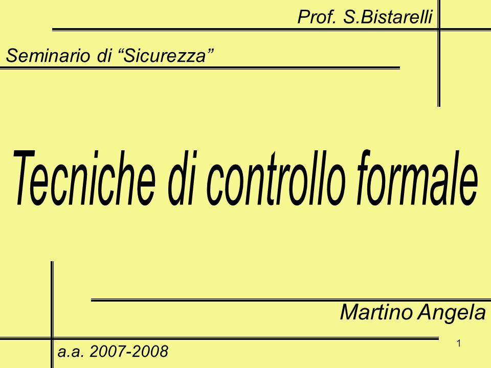 1 Seminario di Sicurezza Martino Angela a.a. 2007-2008 Prof. S.Bistarelli
