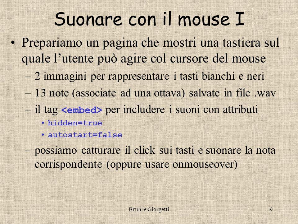 Bruni e Giorgetti10 SuonareSuonare con il mouse II …