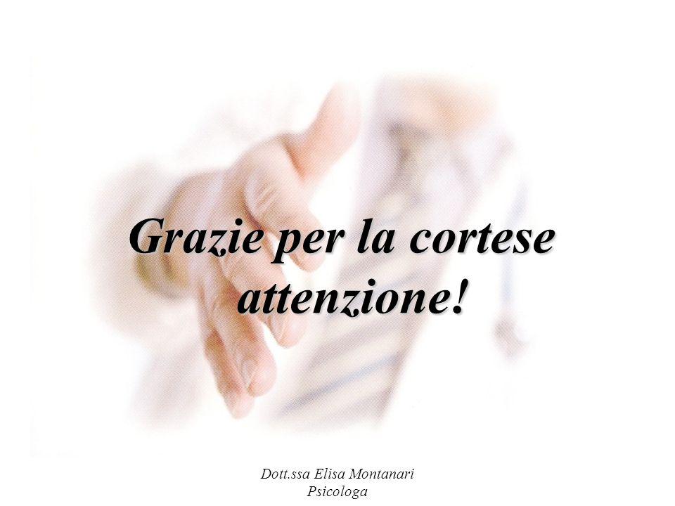 Dott.ssa Elisa Montanari Psicologa Grazie per la cortese attenzione!