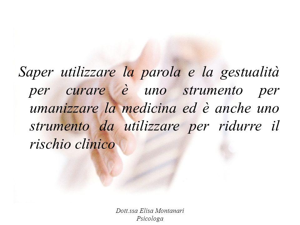 Saper utilizzare la parola e la gestualità per curare è uno strumento per umanizzare la medicina ed è anche uno strumento da utilizzare per ridurre il