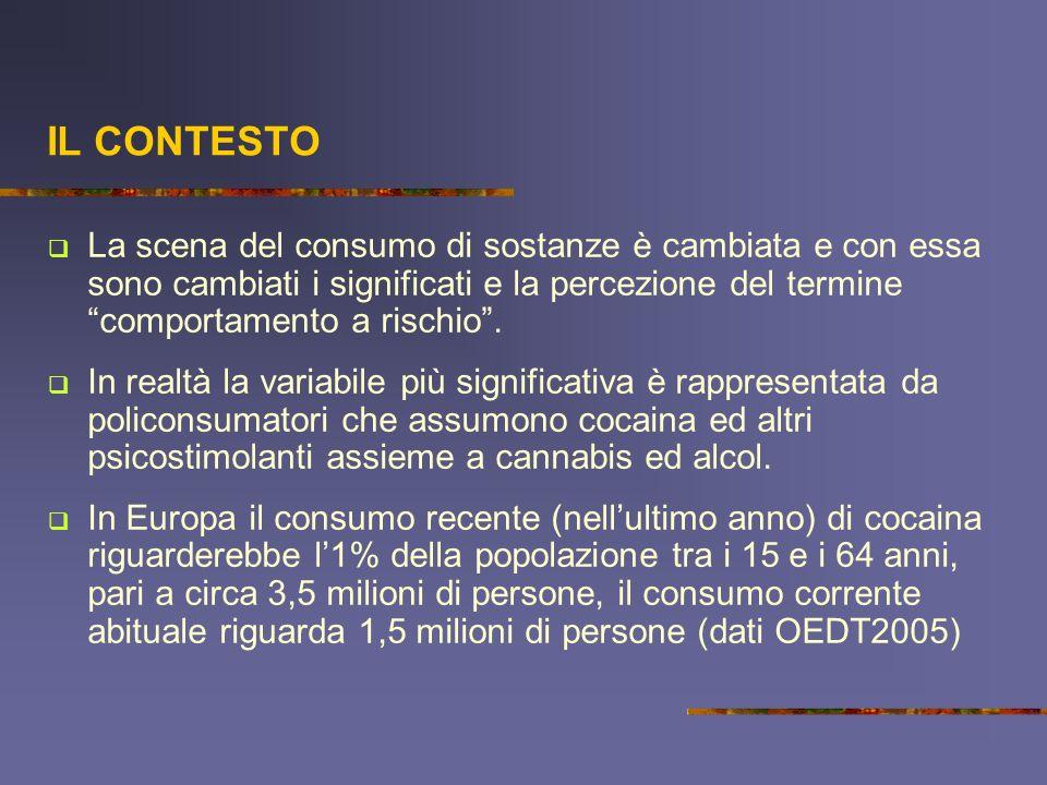LItalia si colloca al 3° posto in Europa per i consumi di cocaina.