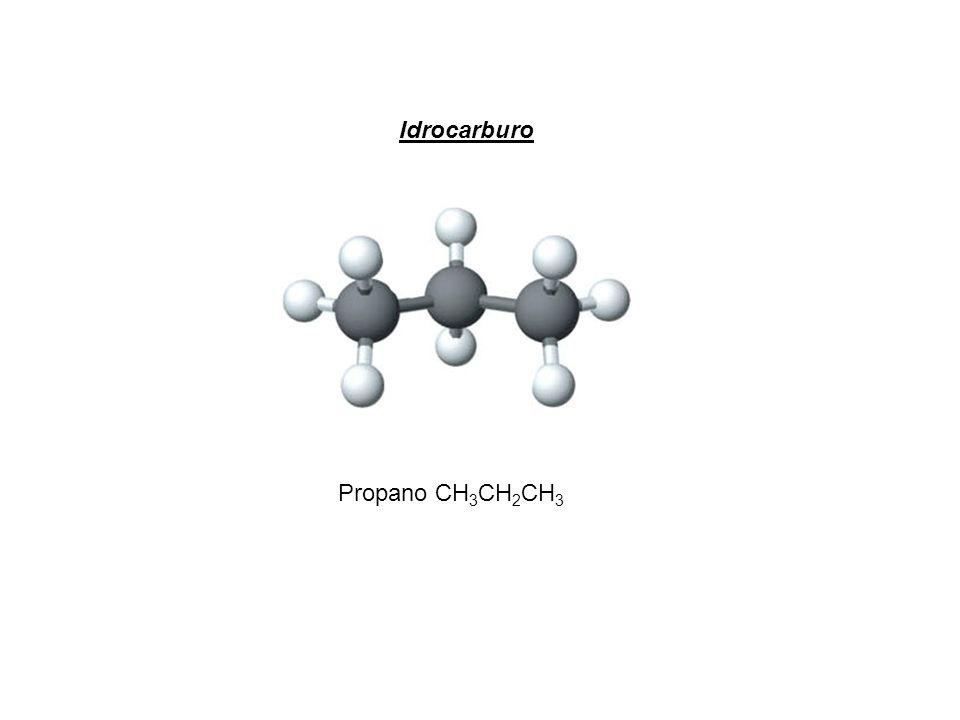 Propano CH 3 CH 2 CH 3 Idrocarburo