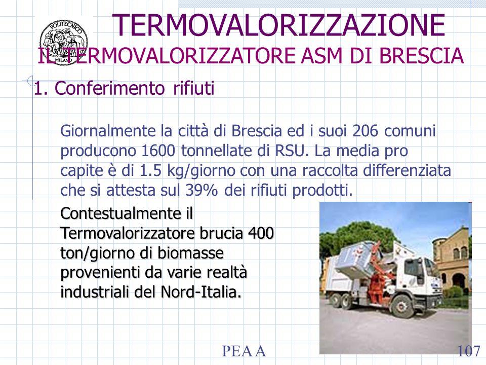 1. Conferimento rifiuti Giornalmente la città di Brescia ed i suoi 206 comuni producono 1600 tonnellate di RSU. La media pro capite è di 1.5 kg/giorno