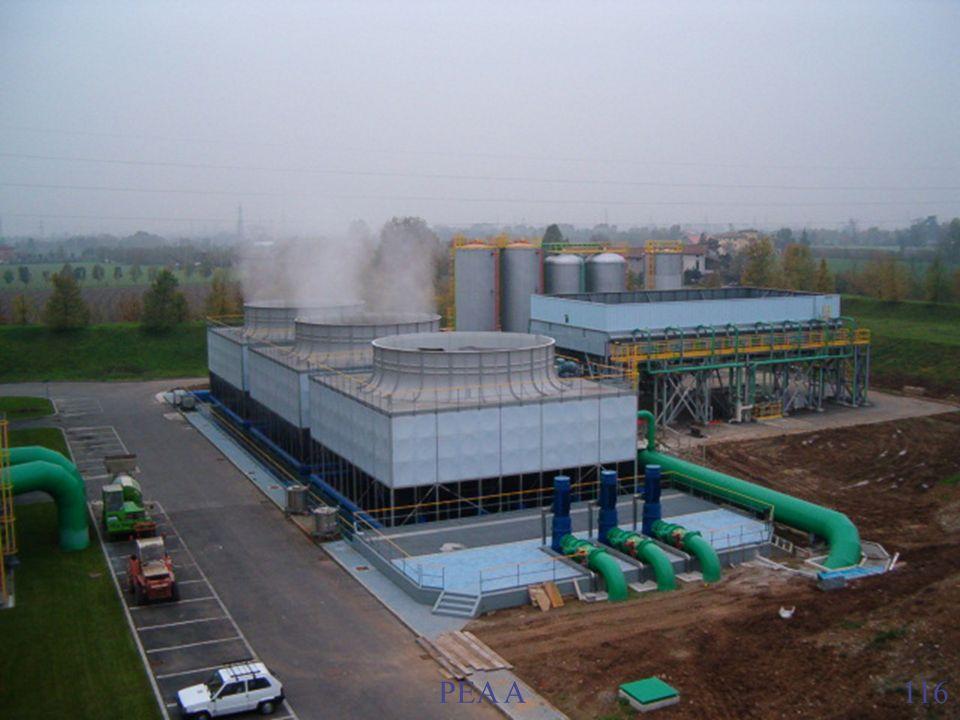 6. Caldaia a recupero I tubi di acqua per la produzione di vapore sono immersi nel refrattario del forno. Essi producono vapore surriscaldato: Tempera