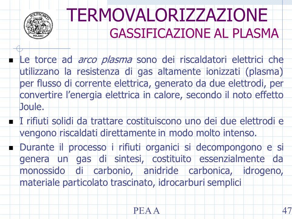Le torce ad arco plasma sono dei riscaldatori elettrici che utilizzano la resistenza di gas altamente ionizzati (plasma) per flusso di corrente elettrica, generato da due elettrodi, per convertire lenergia elettrica in calore, secondo il noto effetto Joule.