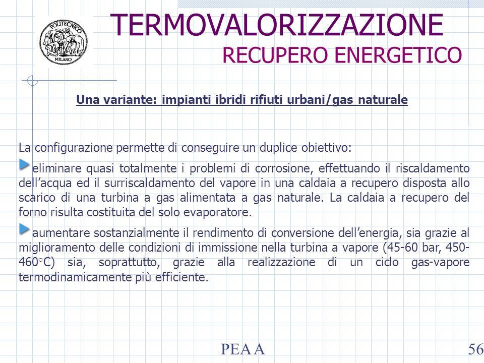 La configurazione permette di conseguire un duplice obiettivo: eliminare quasi totalmente i problemi di corrosione, effettuando il riscaldamento dellacqua ed il surriscaldamento del vapore in una caldaia a recupero disposta allo scarico di una turbina a gas alimentata a gas naturale.