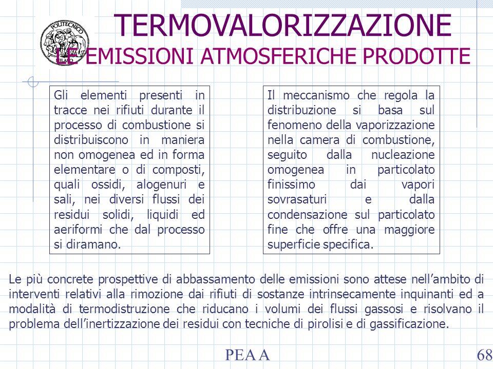 Gli elementi presenti in tracce nei rifiuti durante il processo di combustione si distribuiscono in maniera non omogenea ed in forma elementare o di c