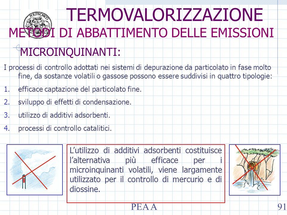 MICROINQUINANTI: I processi di controllo adottati nei sistemi di depurazione da particolato in fase molto fine, da sostanze volatili o gassose possono